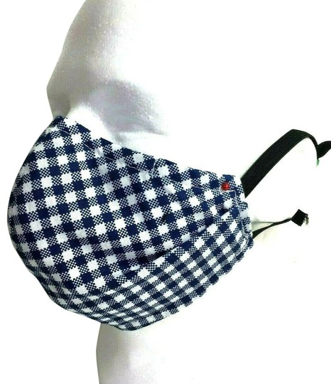 Preload https://img-static.tradesy.com/item/27585897/blue-corona-reversible-face-mask-cotton-gingham-and-plaid-reversible-0-1-540-540.jpg
