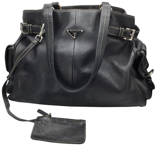 Preload https://img-static.tradesy.com/item/27585910/prada-shoulder-bag-all-black-leather-satchel-0-1-540-540.jpg
