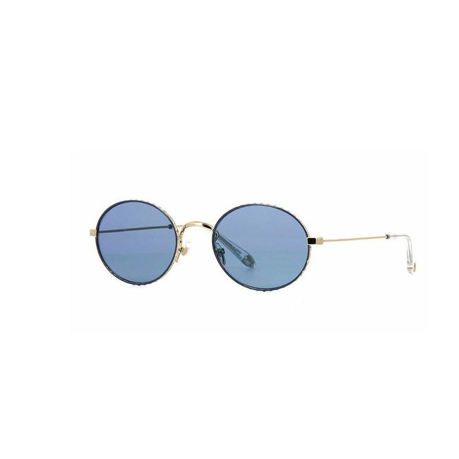 Givenchy Gold /Blue Frame & Lens Blush Gv 7090/S Round Women Sunglasses Givenchy Gold /Blue Frame & Lens Blush Gv 7090/S Round Women Sunglasses Image 1