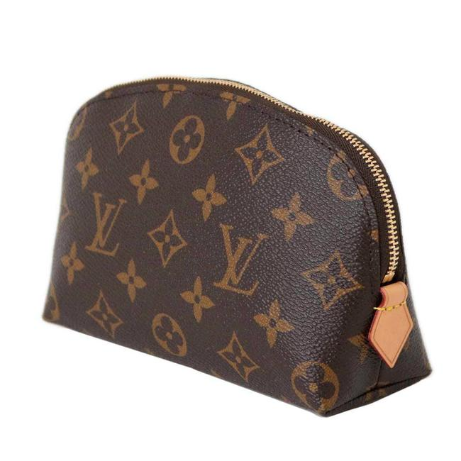 Louis Vuitton Pochette Cosmetic × Leather M47515 Monogram / Monogram Clutch Louis Vuitton Pochette Cosmetic × Leather M47515 Monogram / Monogram Clutch Image 1