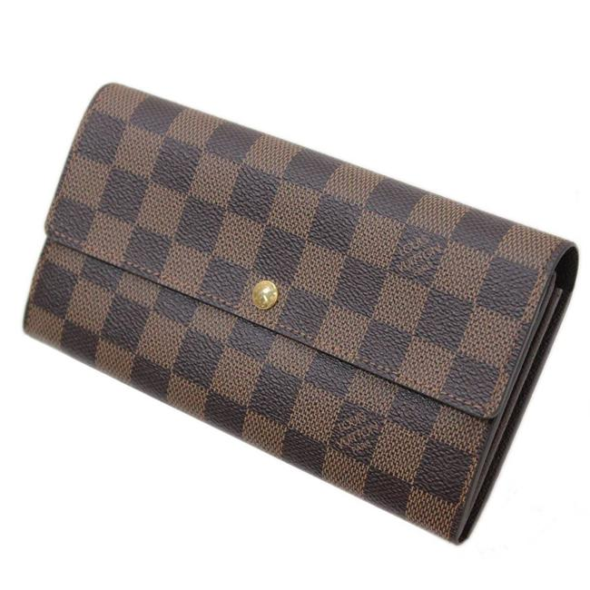 Louis Vuitton Brown / Damier Canvas / Ebene / Ebene Portofeuille Sala Old Model N61734 Ca0193 Wallet Louis Vuitton Brown / Damier Canvas / Ebene / Ebene Portofeuille Sala Old Model N61734 Ca0193 Wallet Image 1