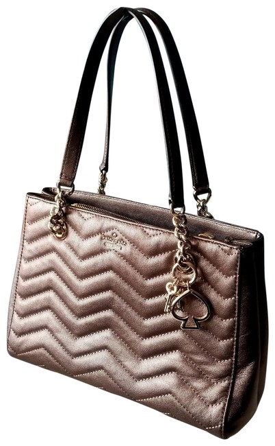 Item - Reese Park Small Courtnee Bronze Shimmer with Charms Brown Leather Shoulder Bag