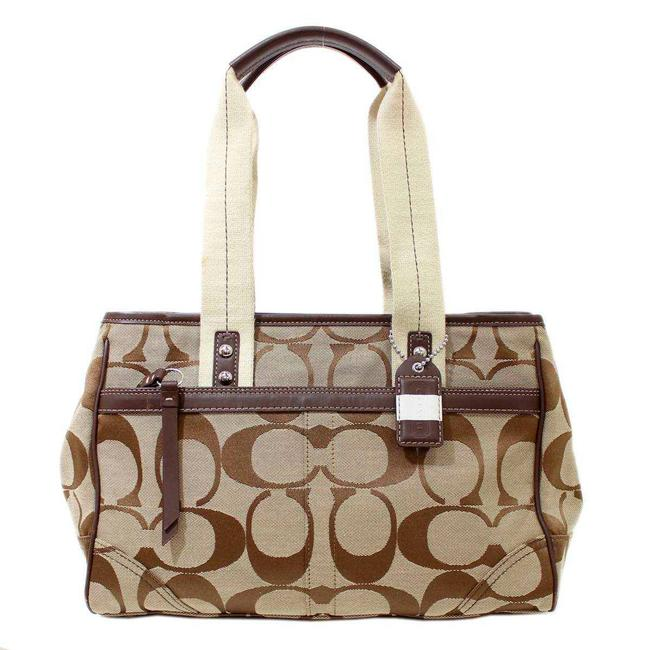 Item - Bag 11951 Brown Signature Line Tote