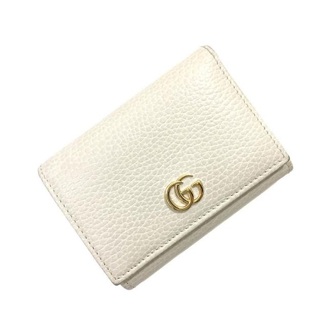 Item - Ivory Marmont Tri-fold Gg 474746 2091 Gold Leather Ladies Wallet