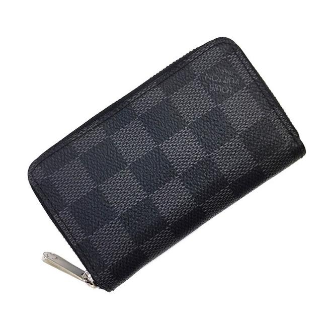 Item - Black / Damier Graphite Graffiti Coin Case N63076 Canvas Ladies Men Unisex Purse Card Wallet