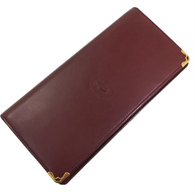 Item - Bordeaux / Wine Red Bi-fold Must Gold Hardware Leather Ladies Wallet
