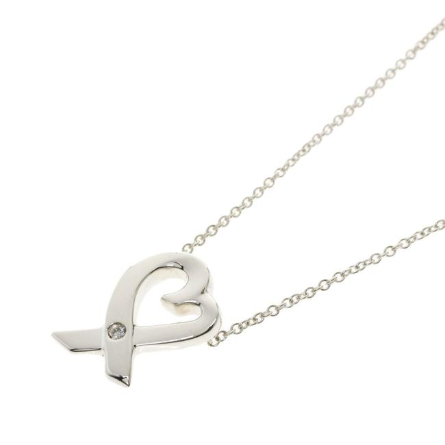 Item - Silver Loving Heart 1p Diamond Ladies Tiffany&co. Necklace