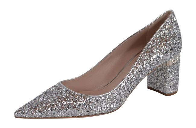 Item - Silver New Glitter Crystal Donna Pumps Size EU 38 (Approx. US 8) Regular (M, B)
