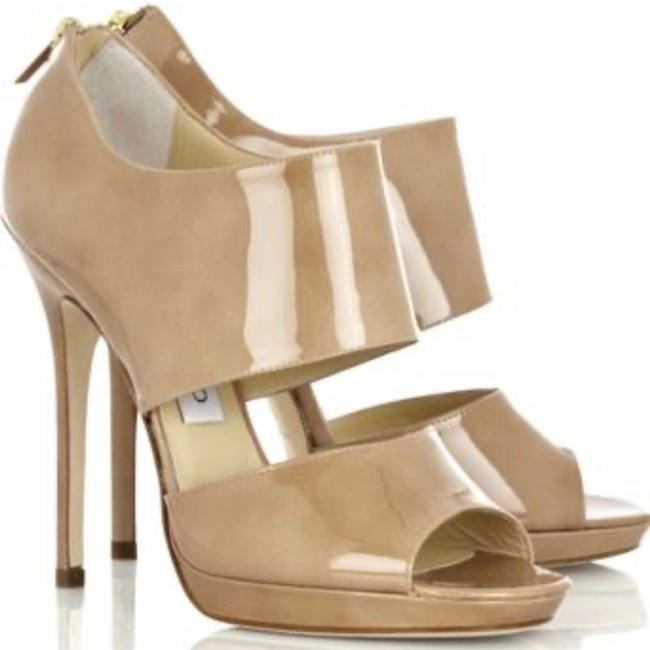 Item - Nude 'private' Cuff Patent Leather 120mm Sandals Size US 5.5 Regular (M, B)