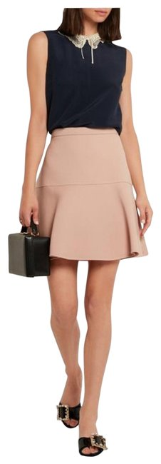 Item - Blush Wool and Silk Blend Crepe Skirt Size 0 (XS, 25)