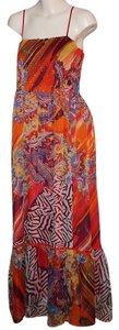 Multicolor Maxi Dress by Peter Nygard Vintage Boho