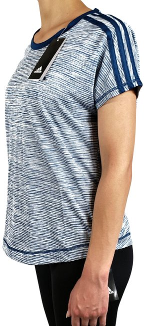 Item - Blue Climalite Women's Striped Activewear Top Size 4 (S)