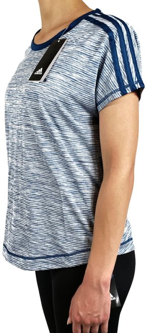 Item - Blue Climalite Women's Striped Activewear Top Size 12 (L)