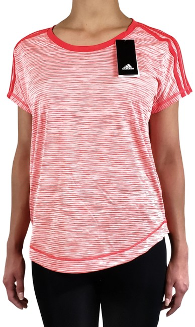 Item - Red/Pink Climalite Women's Striped Activewear Top Size 16 (XL, Plus 0x)