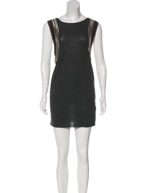 Item - Grey Siri Short Night Out Dress Size 4 (S)