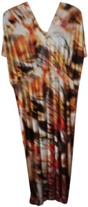 beige brown yellow Maxi Dress by One World