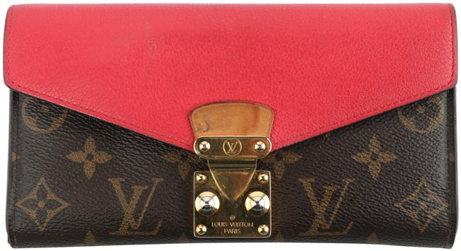 Item - Brown/Red Pallas Monogram Wallet