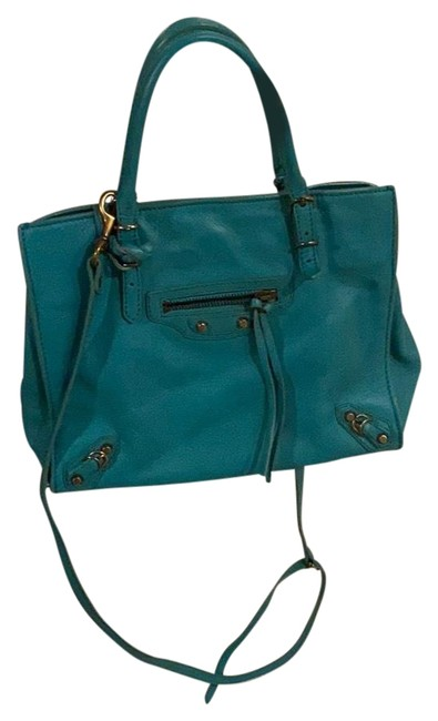 Item - Mini Papier A4 Teal Leather Tote
