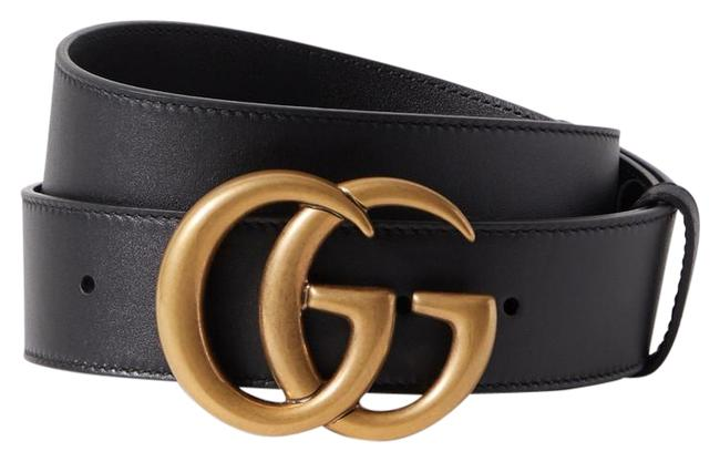 Gucci Black Gg Leather 85 Belt Gucci Black Gg Leather 85 Belt Image 1