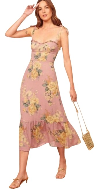 Item - Pink Yellow Nikita In Gwenyth Mid-length Casual Maxi Dress Size 10 (M)
