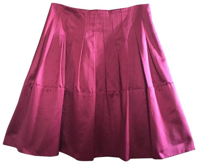 Item - Plum/Burgundy Sateen Pleated A-line Skirt Size 0 (XS, 25)