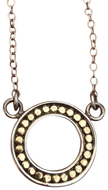 Item - Silver and Gold Timor Reversible Open Disc Necklace