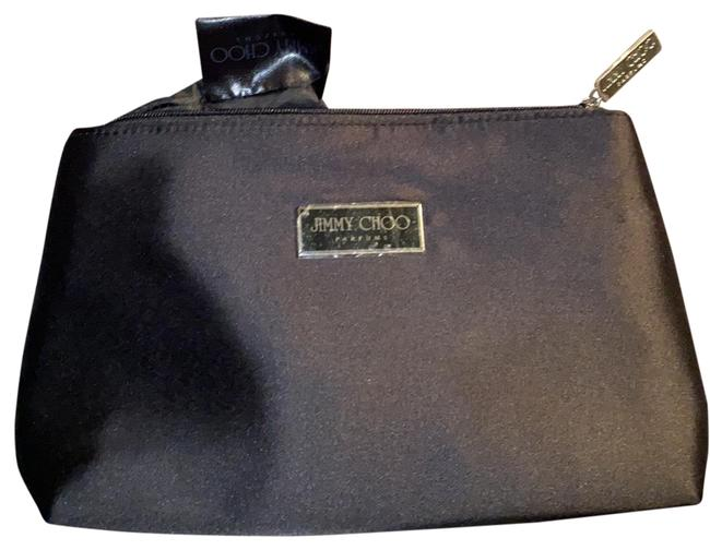 Item - Black Clutch Satin Zip Top Hand Clutch/Cosmetics Cosmetic Bag
