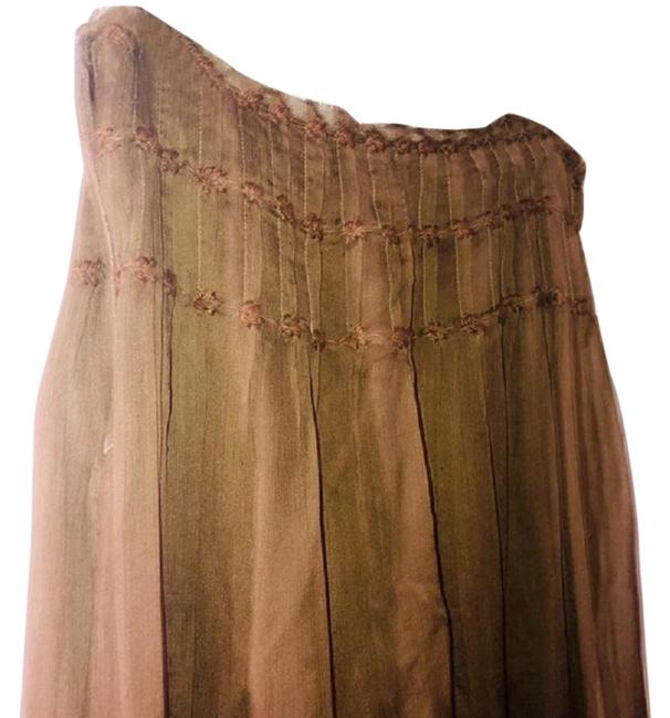 Item - Brown A-line Silk Special Edition Skirt Size 4 (S, 27)