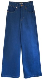 Wrangler Cotton Stretchy Elastic Trouser/Wide Leg Jeans-Medium Wash