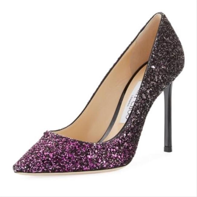 Item - Purple and Black Romy Glitter Pointed-toe 100mm Pumps Size EU 39 (Approx. US 9) Regular (M, B)