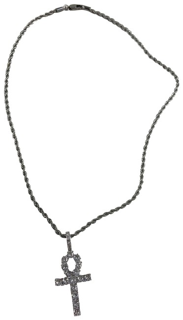 """Lexico Fashion Silver Plated 18"""" Ankh Cross Necklace Lexico Fashion Silver Plated 18"""" Ankh Cross Necklace Image 1"""