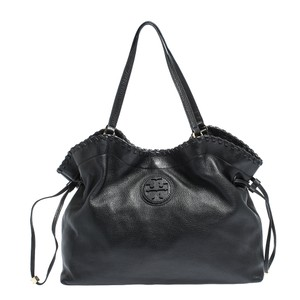Tory Burch Leather Tote in Black