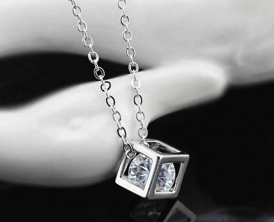 necklaces necklace pendants pendant zircon silver sterling vironna