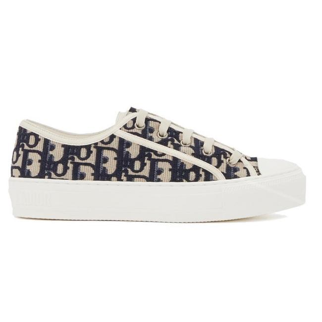 Item - Walk'n'dior Logo Oblique Embroidered Canvas Sneakers Size EU 35.5 (Approx. US 5.5) Regular (M, B)