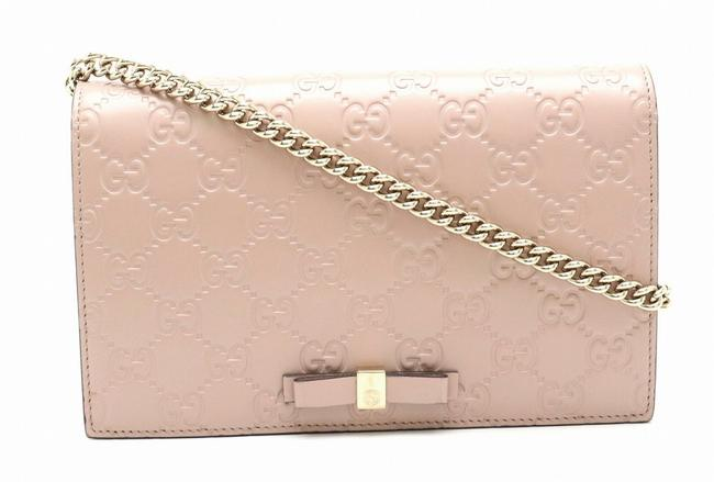 Item - Smoke Pink Shima Ribbon Long Leather 431408 Wallet