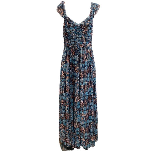 Item - Multicolor Floral Lurex Long Casual Maxi Dress Size 6 (S)
