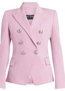 Item - Pale Rose (Pink) Wool Blazer with Silver Buttons New Without Tags Jacket