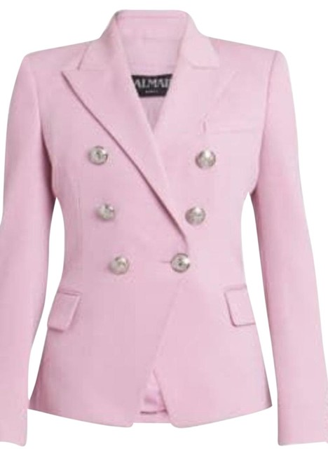Item - Pale Rose (Pink) Wool Blazer with Silver Buttons New Without Tags Jacket Size 10 (M)