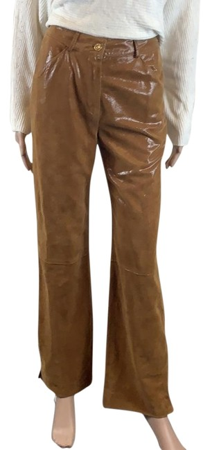 Item - Camel New Couture Sueded Leather Pants Size 2 (XS, 26)