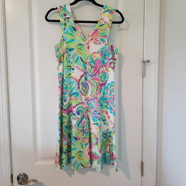 Lilly Pulitzer Multi Lover Colors A-line Tank Mid-length Short Casual Dress Size 8 (M) Lilly Pulitzer Multi Lover Colors A-line Tank Mid-length Short Casual Dress Size 8 (M) Image 1