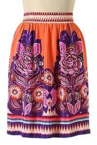 Edme & Esyllte Mini Skirt Orange
