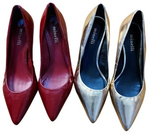 Minelli red and gold Pumps