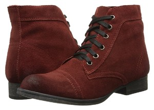 Zigi New York Leather Lace Up Burnt Red Boots