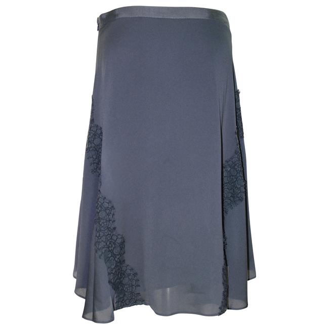 Item - Grey Pre-owned Sexy Handkerchief Lace Trim Dark Charc Skirt Size 6 (S, 28)