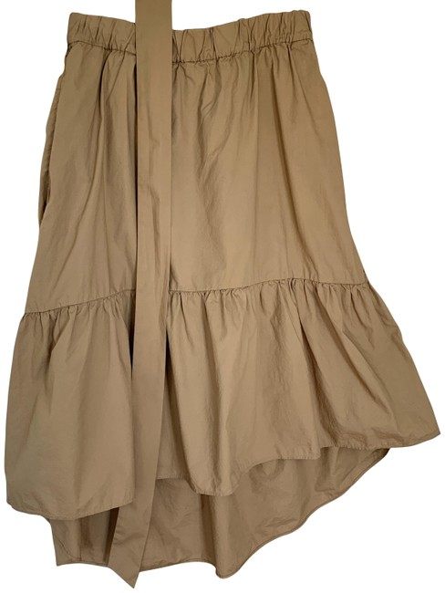 Item - Tan Pre-owned J.crew Belted Pull-on In Cotton Poplin (4) Skirt Size 6 (S, 28)