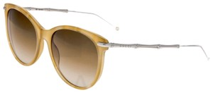 Gucci 3771 GG3771S Brown Horn Silver Bamboo Sunglasses Bio Based Oversized