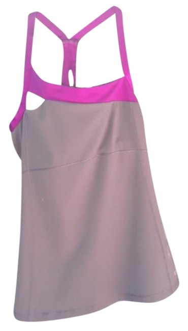 Item - Gray and Purple Keyhole Yoga Activewear Top Size 4 (S)