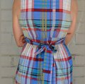 Anthropologie Blue/Red/Green Wrap Dress Tunic Size 6 (S) Anthropologie Blue/Red/Green Wrap Dress Tunic Size 6 (S) Image 5