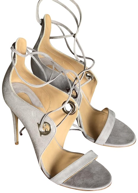 Item - Grey Suede Calf Sandals Size US 8 Regular (M, B)