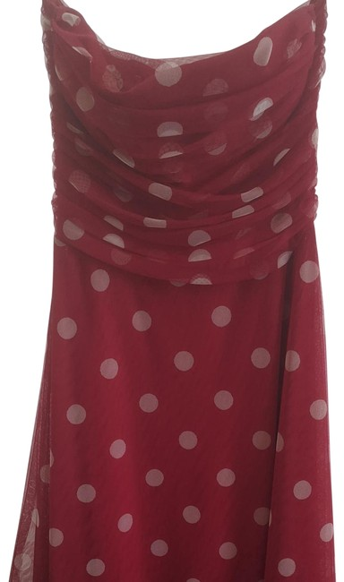 Item - Red White Bcbg Style# 60649 Mid-length Night Out Dress Size 4 (S)